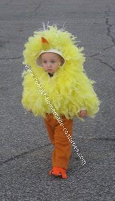 coolest homemade big bird costume - Baby Grinch Halloween Costume