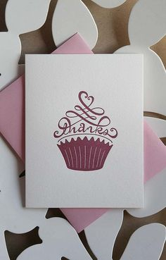 cupcake2 by for the love of letterpress, via Flickr
