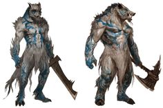 Werebeasts from Guild Wars: Eye of the North