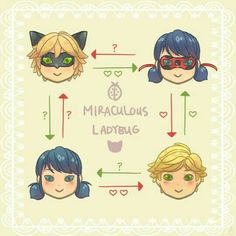 Miraculous Ladybug | One of the only places where you can find a love square between the same two people...
