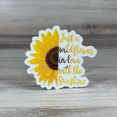Sunflower Quotes, Sunflower Cards, Sunflower Tattoos, Sunflower Pictures, Cool Stickers, Printable Stickers, Creative Birthday Cards, Sunflower Wallpaper, Waterproof Stickers