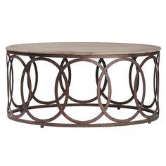 I think I'm leaning toward round coffee table Gabby Furniture Ella Coffee Table @Sarah Nasafi Grayce