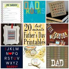 Great collection of FREE printables for Father's Day - gifts, cards, activities and more.