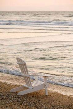 Al atardecer con el mar en calma