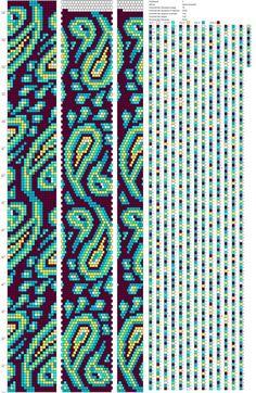 Crochet a Tiny Hat – Pattern - Crochet Bracelet Pattern, Loom Bracelet Patterns, Crochet Beaded Bracelets, Beaded Necklace Patterns, Bead Crochet Patterns, Bead Crochet Rope, Peyote Patterns, Beading Patterns, Beaded Crochet