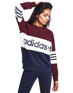 Adidas Women Shoes adidas Originals Street Crew Sweatshirt - Shop online for adidas Originals Street Crew Sweatshirt with JD Sports, the UKs leading sports fashion… - We reveal the news in sneakers for spring summer 2017 Sport Fashion, Teen Fashion, Fashion Outfits, Fashion Clothes, Adidas Fashion, Fashion Shirts, Fashion Trends, Sport Outfits, Casual Outfits