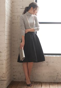 Working women's must-see Autumn / Winter office look fashionable reference code-NAVER Summary Office Fashion, Work Fashion, Modest Fashion, Skirt Fashion, Fashion Outfits, Womens Fashion, Japanese Fashion, Asian Fashion, Sunday Clothes