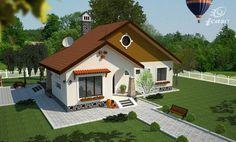 case-frumoase-beautiful-house-plans-5 Modern Bungalow House Design, Simple House Design, Dream Home Design, Beautiful House Plans, Dream House Plans, Beautiful Homes, Beautiful Beautiful, Village House Design, Village Houses