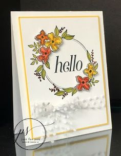 Floral frames card using Stampin' Ip! products Margie's Crafts