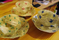 finished paper tea cups/saucers