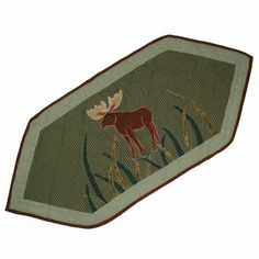 Majestic Moose, Runner Extra Small 36 x 16 In. by PMG. $28.00. Top quality Cotton product,hand layered and hand quilted. For a table with 6 place settings. 16 x 72 Inches. Top branded ensembles and bedding items. Table top Décor. Majestic Moose, Runner Extra Small 36 x 16 In.