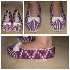 This Pin was discovered by emı Knitted Slippers, Slipper Socks, Knitting Socks, Hand Knitting, Woolen Socks, Afghan Stitch, Socks And Sandals, Knitted Baby Clothes, Crochet Boots