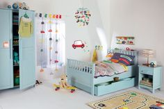 Car Theme - Kids' Bedroom Ideas - Slightly OTT witht eh theme, but the trick is to keep the walls neutral. www.homesalemalta.com #realestate #malta