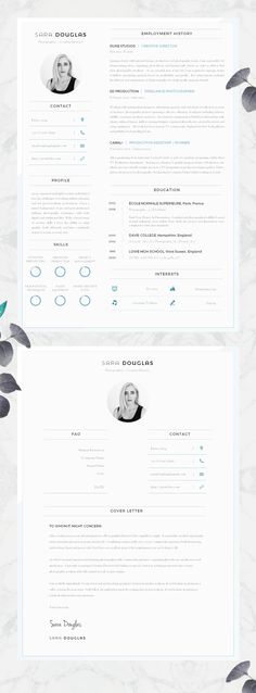 Modern CV Design | Resume Design - Must Do Career Project #Etsy #CV #Resume