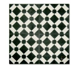 Anemone C14-4 encaustic tile from Mosaic House