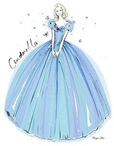 Megan Hess for Disney's Cinderella — The Jacky Winter Group Megan Hess Illustration, Illustration Art, Arte Fashion, Fashion Design, Kerrie Hess, Jacky Winter, Cinderella Dresses, Dress Drawing, Fashion Sketches