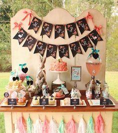 Mesa decorada tema de aniversário Páscoa - Sweet Scarlet Designs
