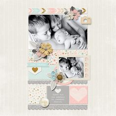 layout by joelsgirl A Beautiful Life: January by Zoe Pearn Template by Crystal Livesay #sweetshoppedesigns #layout #baby #scrapbook #digitalscrapbooking