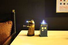 Instructables on how to create your own ornaments of daleks and a TARDIS