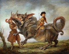 """Omar Rayyan. """"The Young Prince"""" oil on panel, 2010. His work has a """"old fashioned"""" feel, which contrasts with the fantastic subject matter."""