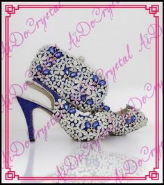 ebe89a4cc6dde Aidocrystal luxury flowers rhinestone slingback sandals summer shoes  wholesale lady italian party shoes and bags set-in Women s Pumps from Shoes  on ...