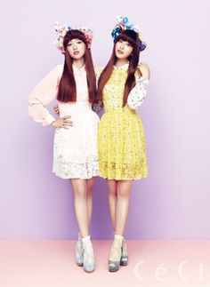 Park Shin Hye and Park Se Young's Sweet and Girly CeCi Magazine Shoot