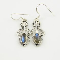 Genuine Labradorite Solid Sterling Earrings. Starting at $1 on Tophatter.com!