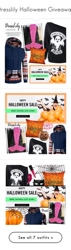 """""""Dresslily Halloween Giveaway"""" by noviii ❤ liked on Polyvore featuring Halloween, giveaway, dresslily, Gymboree, Tag, Improvements, H&M, MAC Cosmetics, Home Decorators Collection and Lancôme"""