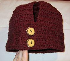 LoopyKidz: { Women's Ponytail Hat ~ Crochet Pattern } Do flat knit on knitting board!