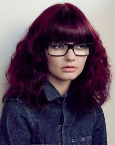 Edgy Hair Color Ideas for Purple Hair Color Red Violet Hair, Violet Hair Colors, Dark Purple Hair, Plum Hair, Bright Red Hair, Red Hair Color, Cool Hair Color, Red Purple, Dark Hair