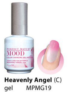 LeChat Perfect Match UV Mood Gel Polish Heavenly Angel # MPMG19 - .5 fl oz