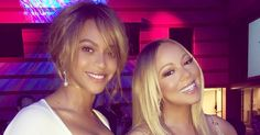 Beyonce and Mariah Carey posed together while attending an L.A. event on Thursday, Feb. 11 — see the amazing photo!