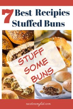 If you've never eaten stuffed buns, you're missing out. Try a variety of 7 amazing stuffed bun recipes that are easy to make and delicious. Get 30 appetizers for your next party menu My Recipes, Snack Recipes, Favorite Recipes, Snacks, Bun Recipe, Recipe List, Super Cook, Italian Beef Recipes, Meat Bun
