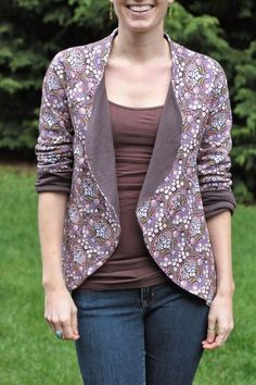 Fake It While You Make It: Meridian Cardigan: Imagine Gnats January Pattern Tour