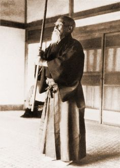 Morihei Ueshiba, founder of the Japanese martial art of aikido.