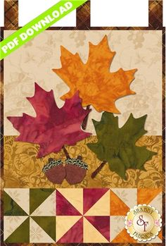 "Little Blessings - Autumn Glitz - Wallhanging measures 12"" x 18"". From shabbyfabrics.com"