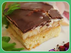 Bananenschnitte Brownie Bar, Tiramisu, Brownies, Cheesecake, Cooking, Ethnic Recipes, Desserts, Food, Schokolade