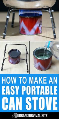How To Make An Easy Portable Can Stove I'm positive that anyone — even people who are terrible at DIY projects — can make this DIY alcohol stove. Here's how to do it. Urban Survival, Survival Food, Outdoor Survival, Survival Prepping, Emergency Preparedness, Survival Skills, Survival Items, Survival Hacks, Tips