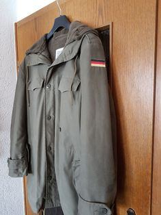 German Army Classic Parka Military Combat Mens Jacket Coat + Liner ... 5b37068059d