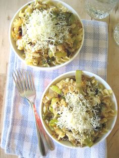 Caramelized Leek Pasta (may say link is fishy; it's not.  It's just a wordpress blog post with the recipe.)