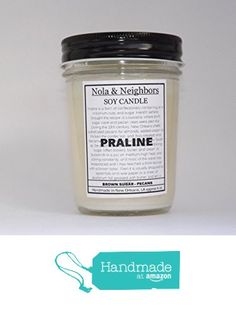 Bakery scented Praline candle, 6 oz soy candle, Mason jar soy candle, Long 50+ Hour burn time, Praline, New Orleans gift. Vanilla caramel scented. from NolaAndNeighbors http://www.amazon.com/dp/B0160AVJEE/ref=hnd_sw_r_pi_dp_fkOfwb19RJCFN #handmadeatamazon