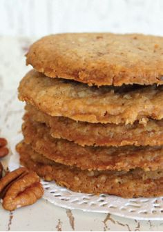 Pecan Shortbread Cookies – Once you make this recipe, you'll be making them for dessert again and again. Try crumbling these over ice cream!