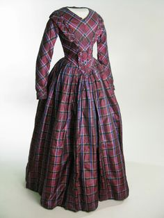 1849 wedding dress Europe, United Kingdom, Lancashire, Clitheroe