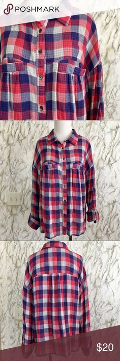BCBGeneragion Flannel So cute and perfect for fall 🍂 excellent pre owner  condition, no pilling, no Flaws. No smoking Home 🏡 BCBGeneration Tops Blouses