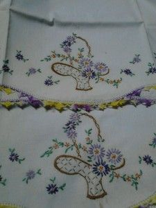 Vintage Embroidered Pillowcases | eBay