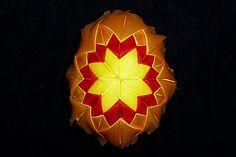 kanzashi + false patchwork technique