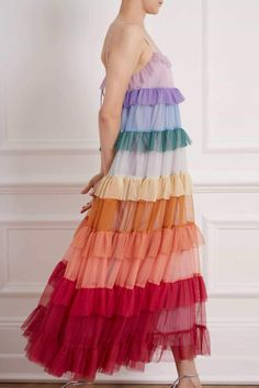 Casual Dresses, Prom Dresses, Summer Dresses, Chakra, Girl Fashion, Fashion Outfits, Tiered Dress, Mode Inspiration, Colorful Fashion