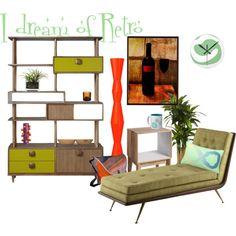 I dream of retro living room Retro Living Rooms, Modern Design, Entryway, Polyvore, Furniture, Home Decor, Entrance, Decoration Home, Room Decor