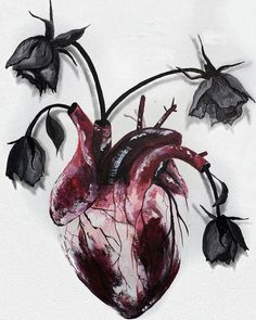 Medical tattoo design anatomical heart ideas for 2019 Heart Painting, Anatomy Art, Heart Anatomy Drawing, Anatomical Heart Drawing, Anatomy Tattoo, Art Graphique, Gothic Art, Art Inspo, Art Sketches