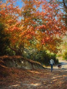 Autumn Stroll painting by Mark Haworth